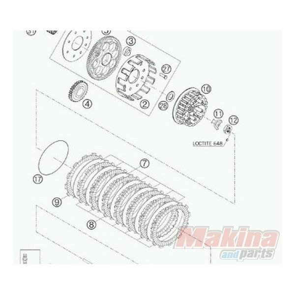 58332011300 Δίσκοι Τριβής Συμπλέκτη Σετ KTM LC-4 640