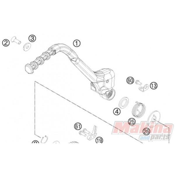77133070144 Kick Starter Cpl. KTM EXC EXC-F