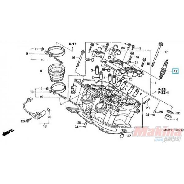 31912MCW003 Spark Plug IMR9B-9H Honda VFR-800 '02-'09