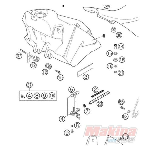51107004000 Διακόπτης-Ρουμπινέτο Βενζίνης KTM LC4-640 '98-'07