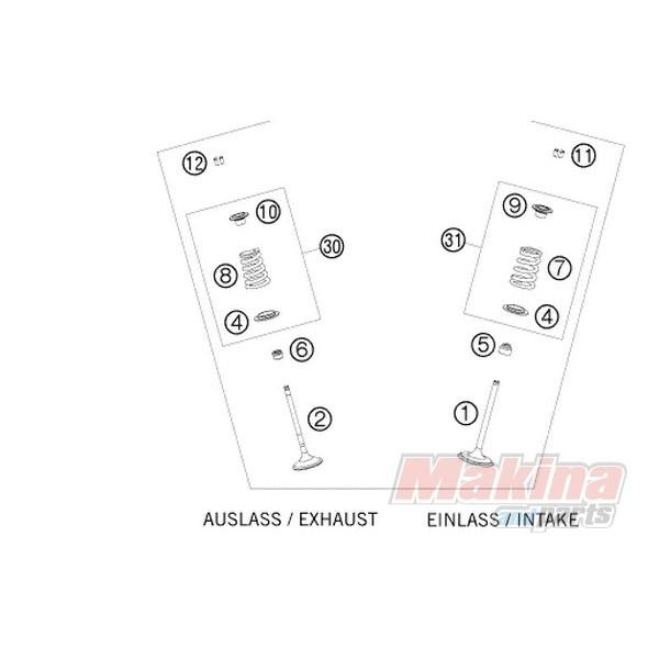 59036027000 Τσιμουχάκια Βαλβίδων KTM EXC-450-520-530