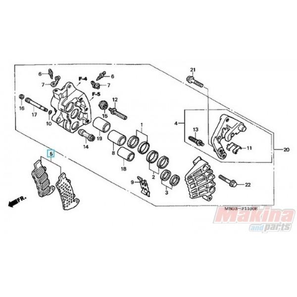 06455MCC006 Τακάκια Εμπρός Honda VFR-800 '02-'05