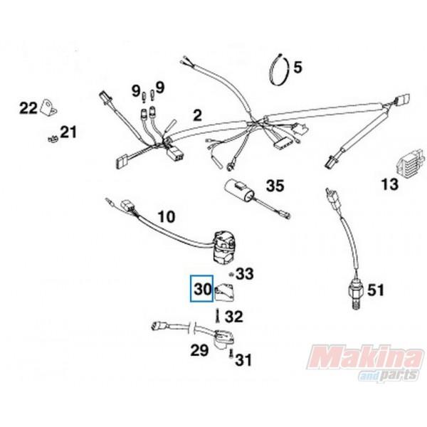 13011070060 Βάση Διακόπτη Φλάς KTM EXC '00-'13 EXC-F '06-'13