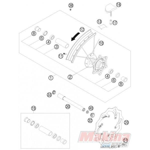 77309060000 Brake Disc Front KTM EXC '07-'16 SX '07-'15