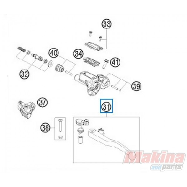 50302031300 Clutch Lever Cpl. Magura KTM EXC-SX '09-'13
