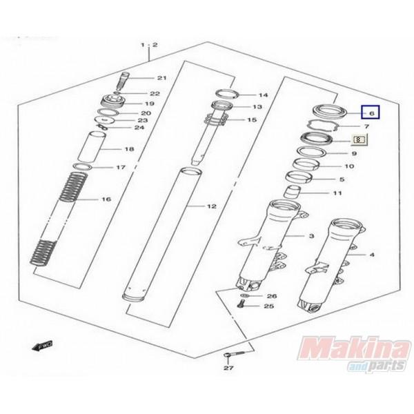 5117327G00 Ξύστρα Εμπρός Ανάρτησης Suzuki DL-650 V-Strom