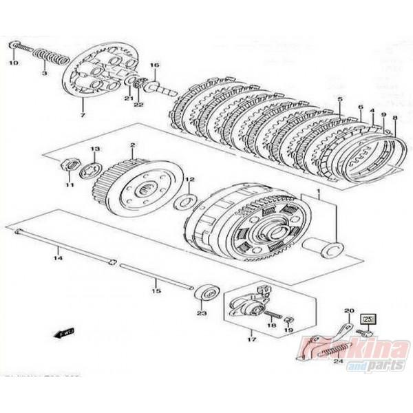 Σετ Δίσκοι Συμπλέκτη Μεταλλικοί Suzuki DL-650 V-Strom