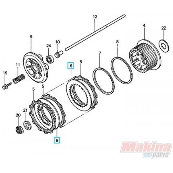 22321GHBSET4 Δίσκοι Συμπλέκτη Μεταλλικοί Σετ Honda VTR