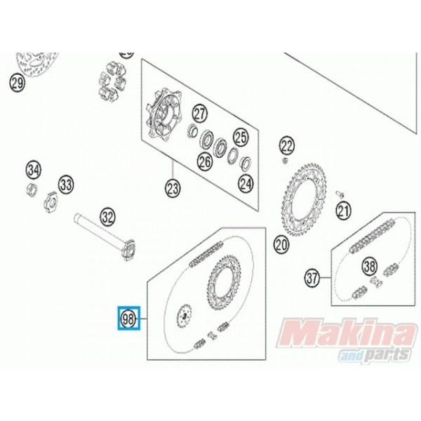 00050002016 Σετ Γρανάζια Αλυσίδα KTM SMC-690 '08-'11