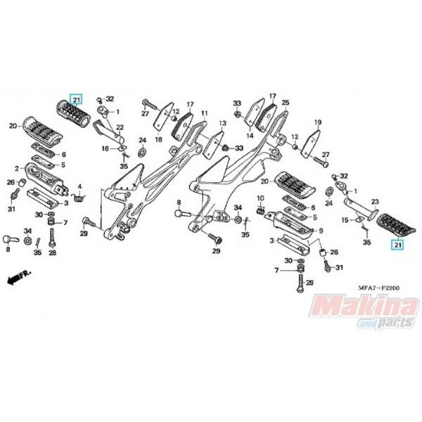 50710KE8000 Rubber Footrest Pillion Step Honda CBF-600-1000