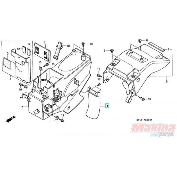 17218KZ3860 Mudguard Air Cleaner Case Honda XRV-XLV