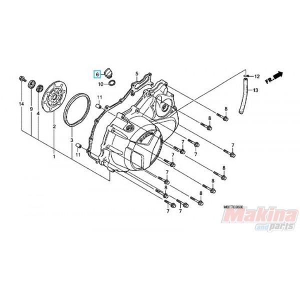 25611733000 Cap Oil Filler Honda CB-CBF-CBR-XLV
