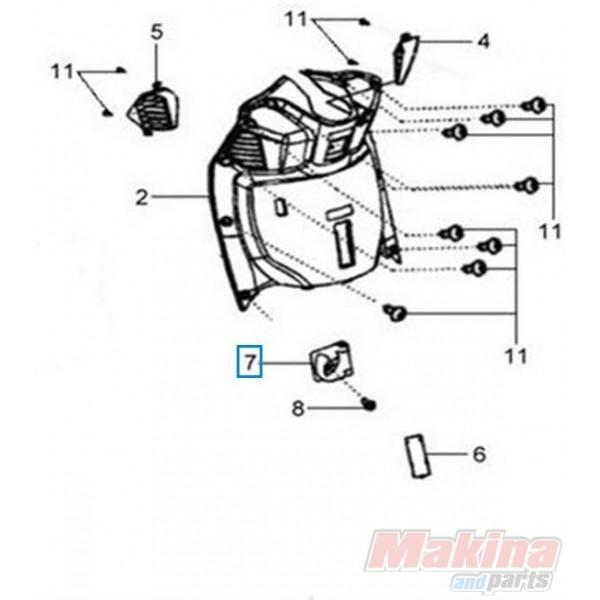 81132H6T000KA Luggage Hook Sym Citycom-300i HD-125/200