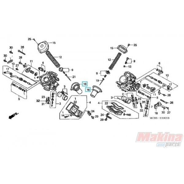 16111MF5841 'Εμβολο Καρμπυρατέρ Honda XL-650V Transalp