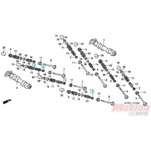 12208ML0721 Valve Seal Honda SH-300 FJS-600 Silverwing