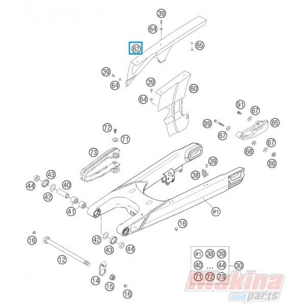 58307060250 Κάλυμμα Αλυσίδας KTM LC4-640 '98-'07