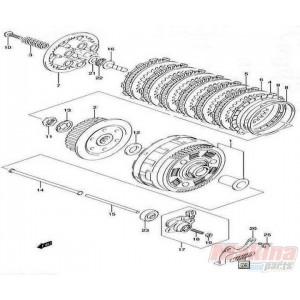 2144129F20SET Clutch Drive Fiber Plates Set Suzuki DL-650