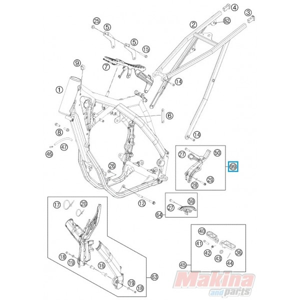 77203096010 Κάλυμα Εμπρός Γραναζιού KTM EXC-F SX-F 350