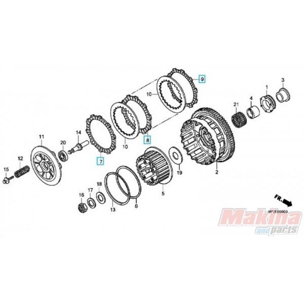 22201MFJSET Clutch Friction Disks Set Honda CBF-600 ABS