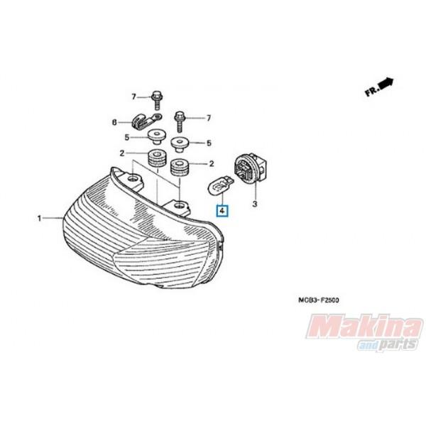 34906MBB611 Λάμπα Πίσω Φανού 12V 21/5W Honda XL-650V Transalp