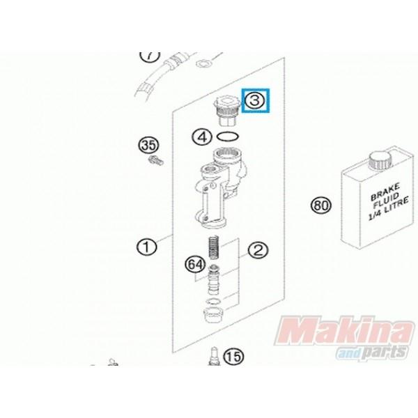 54813062100 Καπάκι Τρόμπας Πίσω Φρένου KTM EXC-SX '04-'18