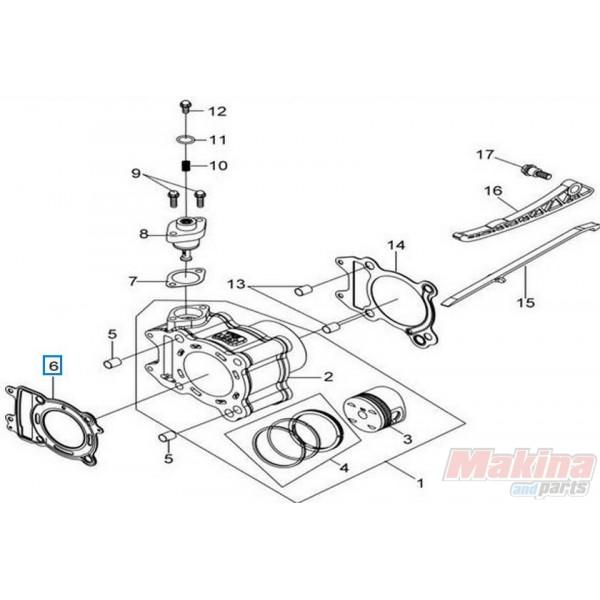 12251LEA000 Cylinder Head Gasket Sym Citycom-300 GTS-300 EFI