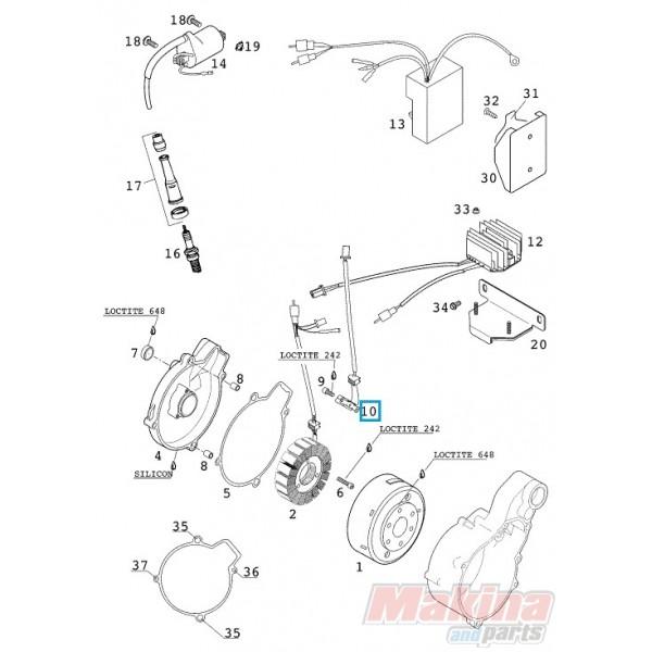 58439034000 Pulser Coil KTM LC4-640 '98-'07