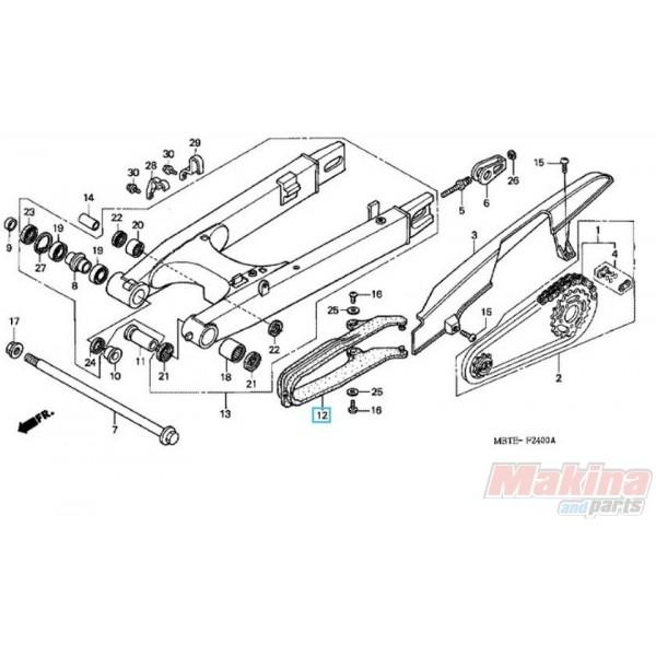 52170MBTD10 Slider Chain Honda XL-1000V Varadero '02-'11