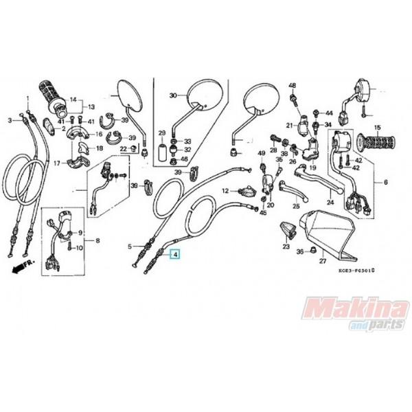 22870KCZ000 Clutch Cable Honda XR-250 '96-'04