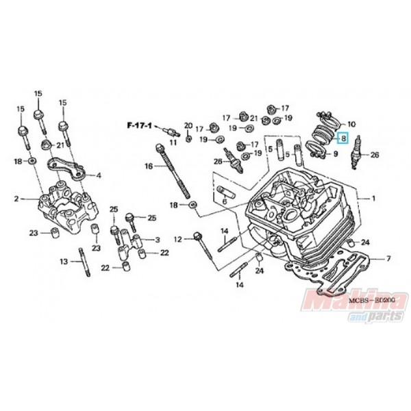 16211MAW600 Εισαγωγή Καρμπυρατέρ Honda XL-600-650V Transalp