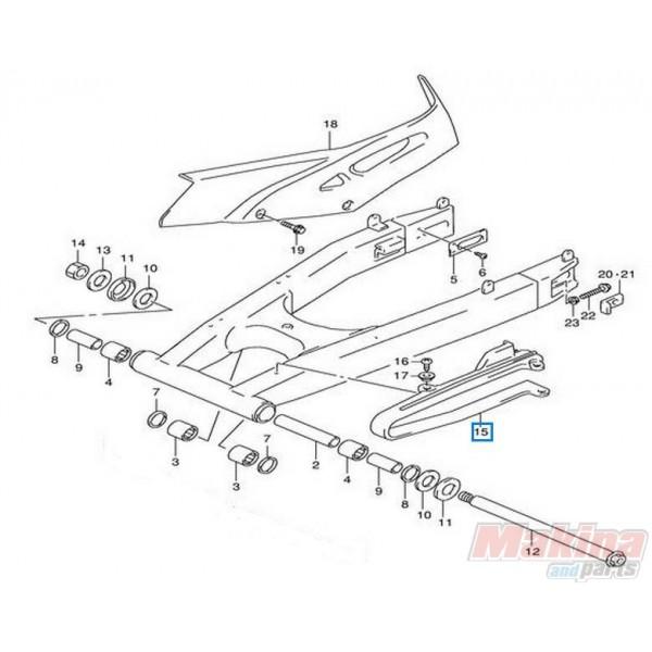 6127313E01 Buffer Chain Touch Defence Suzuki XF-650 Freewind
