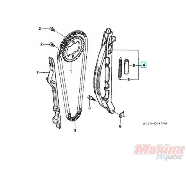 14500KCZ000 Timing Chain Tensioner Honda XR-250 '96-'04