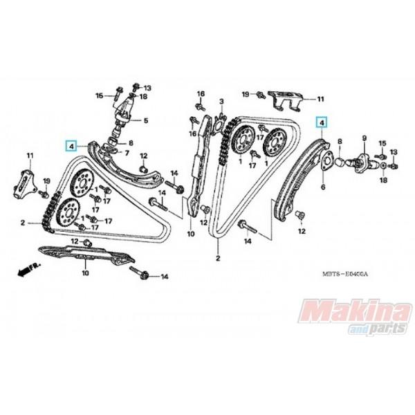 14510MBB003 Tensioner Camshaft Chain Honda XL-1000V Varadero