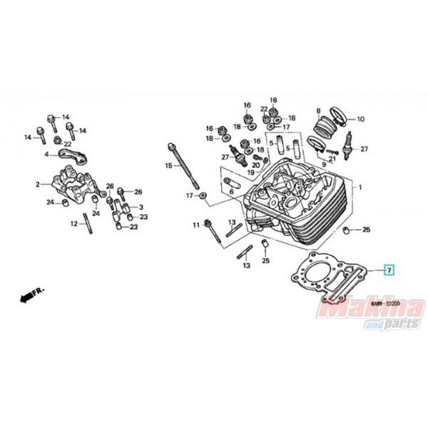12251MS6651 Φλάντζα Εκρήξεως Honda XL-600V Transalp '90-'99