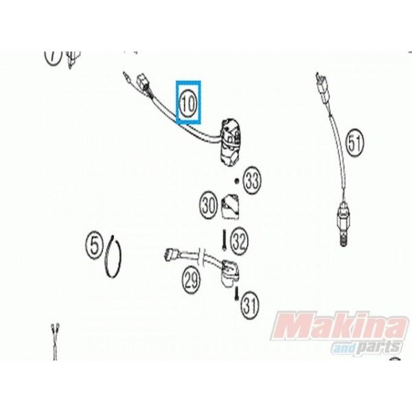 50311070000 Διακόπτης Φώτων Αριστερός KTM EXC '00-'15 EXC