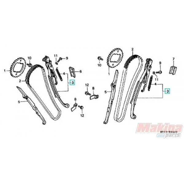 14510MR1000 Timing Chain Tensioner Honda XRV-XLV