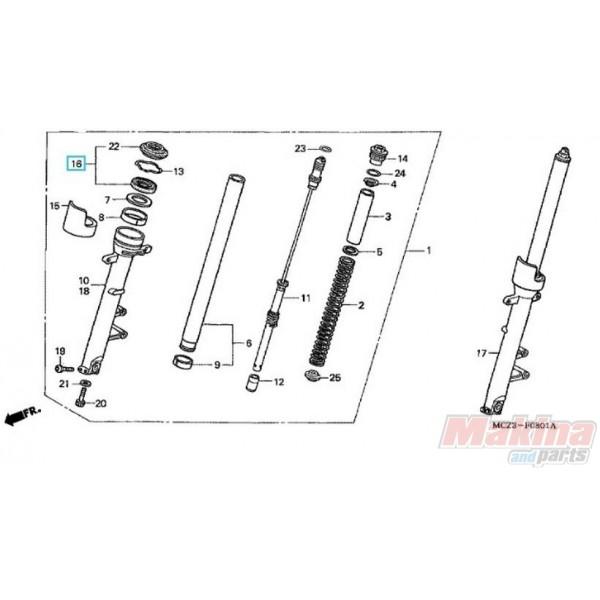 51490MEJ003 Fork Oil Seal Set Honda XL-1000V Varadero ABS