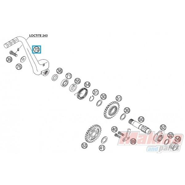 50333070144 Kick Starter Cpl. KTM EXC-125-200 '98-'11