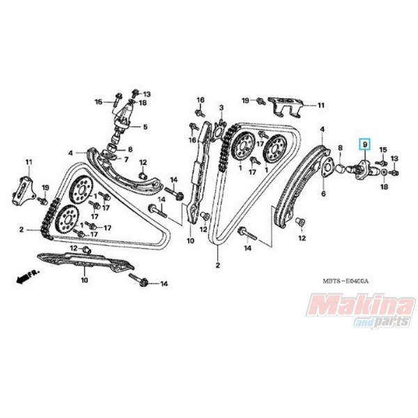14530MBTF20 Timing Chain Tensioner Honda XL-1000V Varadero
