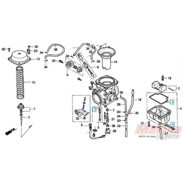 16010KPK901 Gasket Set Carburetor Honda NX-650 FMX-650