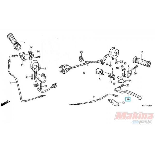 53178KPK900 Μανέτα Συμπλέκτη Honda CBR-125