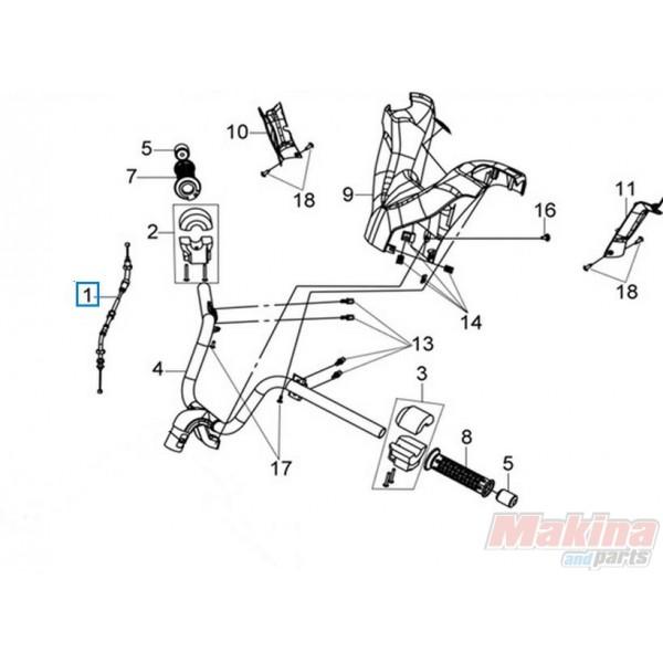 17910LVA004 Throttle Cable Sym Joyride-200 EFI Evo