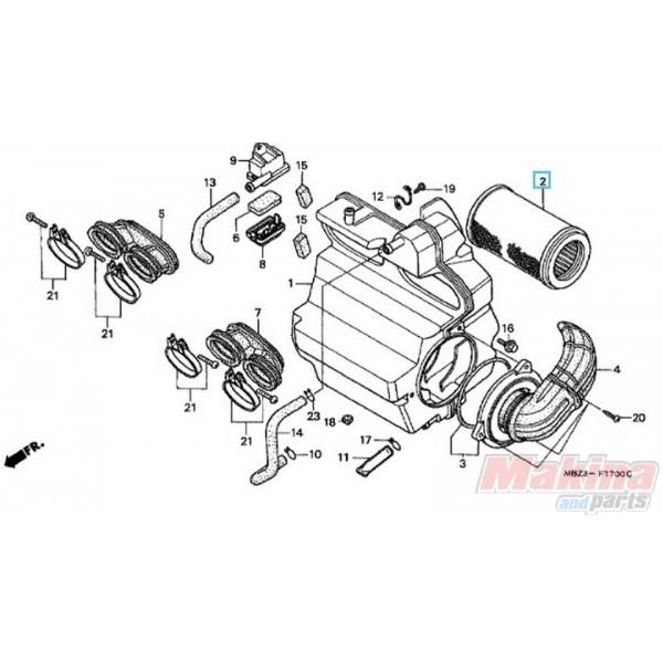 17230MBZK00 Air Filter Honda CBF-600 '04-'07