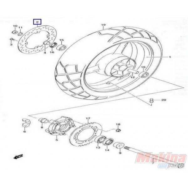6921106G00 Rear Brake Disc Suzuki DL-650-1000 V-Strom