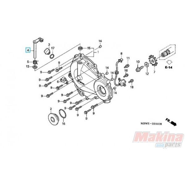 22810MBWE21 Μοχλός Συμπλέκτη Honda CBR-600F Sport