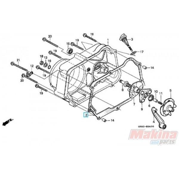 11394GW8681 Clutch Cover Gasket Honda C-90 Cub C-100