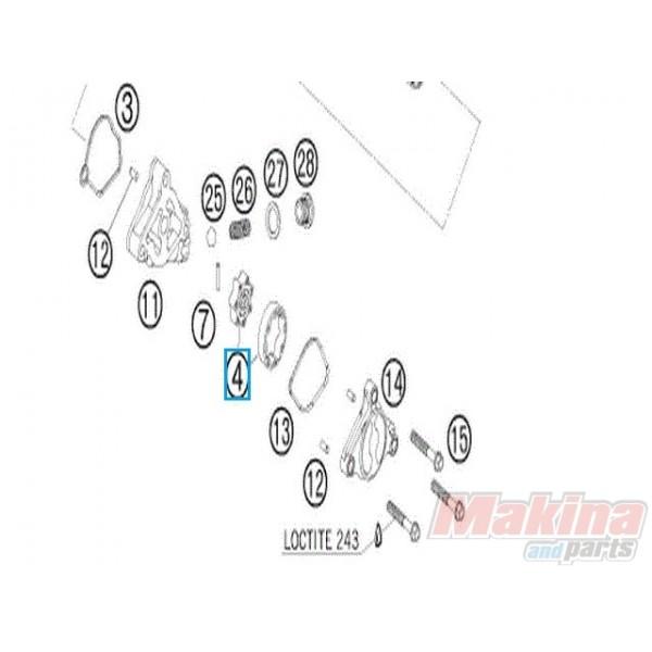 77338207100 Pressure Pump Peek KTM SXF-450 '07-'12