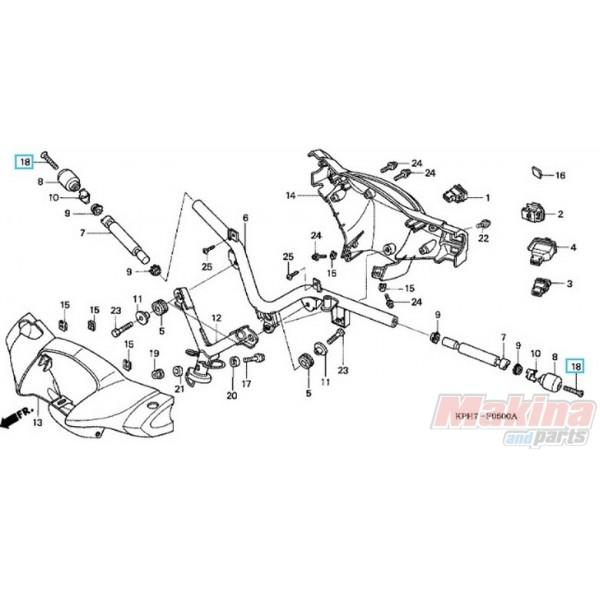 90191KPH970 Screw Weight Steering Handle Honda ANF-125 Innova
