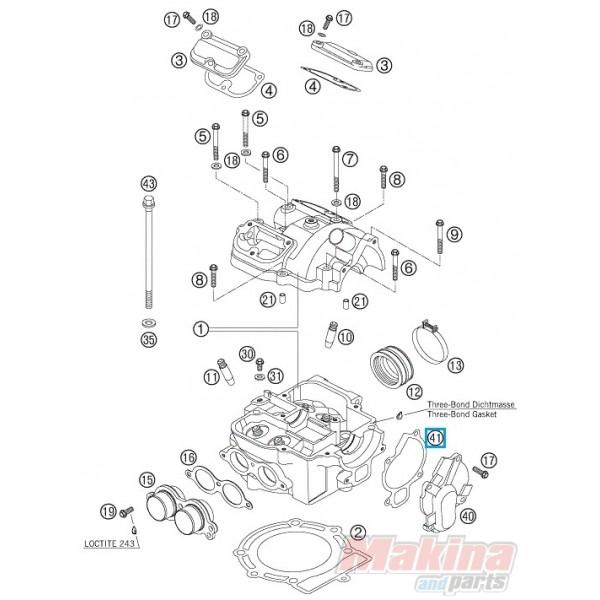 59035053000 Φλάντζα Καπακιού Αντλίας Νερού KTM EXC-SX 4T