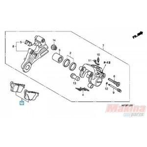 06435MFGD02 Rear Brake Pads Honda CB-600 Hornet '07-'13